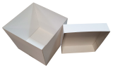 Balloon Box: 300-300-350 high (with lift off lid) White (6 pack)