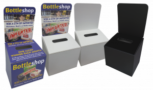 COMP-03 Tabletop Small Entry Boxes - Printing Available