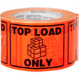 """""""Top Load Only"""" Printed Labels 100x75mm"""