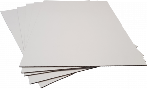 Pads A4-W2: 297x210mm WHITE 2mm Thick Cardboard Pads (45pce pack)