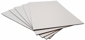 Pads A1-W3: 840x594mm White 3mm Thick Cardboard (8pce pack)