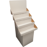 White - 4 Tiered Stand - Flush Shelves