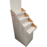 White - 4 Tiered Stand - Overlapping Shelves