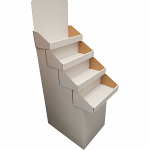 Black: 4 Tier Stand - Overlapping Shelves