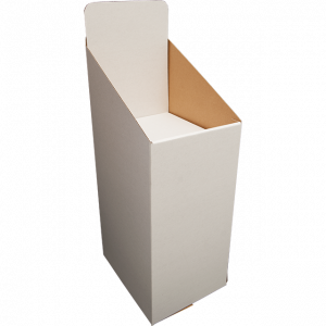 "Dump Bin / Display Bin ""Stacker"" - White, Black or Brown - with Printed Headers"